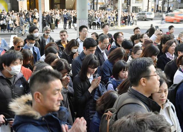Jepang Menandai 8 Tahun Sejak Bencana Tohoku Terjadi