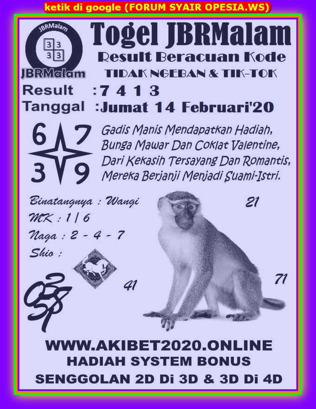 Kode syair Hongkong Jumat 14 Februari 2020 60