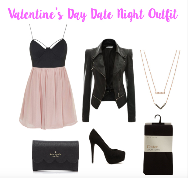 Valentine's Day date outfit ideas on a budget. What to wear on Valentine's Day dinner date or out with your friends