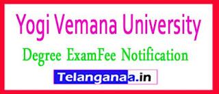 YVU Degree Annual Examination Fee Notification 2017