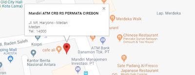 Google map lokasi atm setor tunai medan