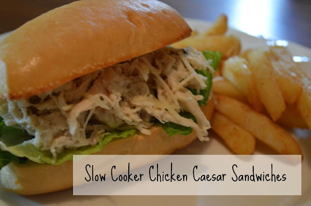 Slow Cooker Recipe - Chicken Caesar Sandwiches