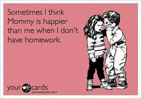 Parent's battle with homework