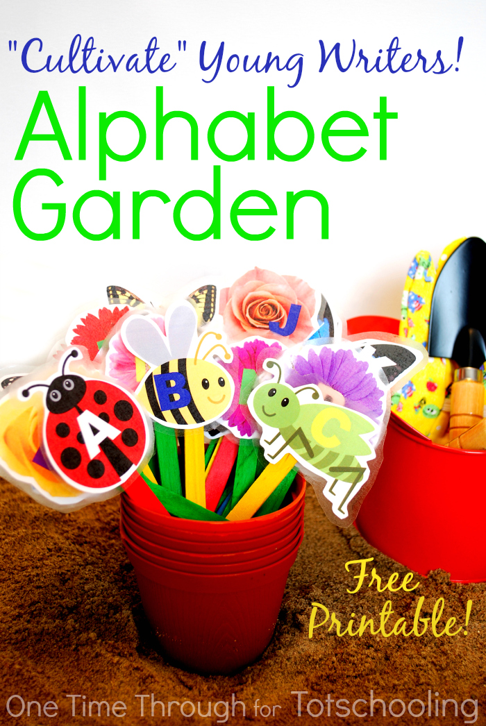 playful alphabet garden with free printable totschooling toddler preschool kindergarten. Black Bedroom Furniture Sets. Home Design Ideas