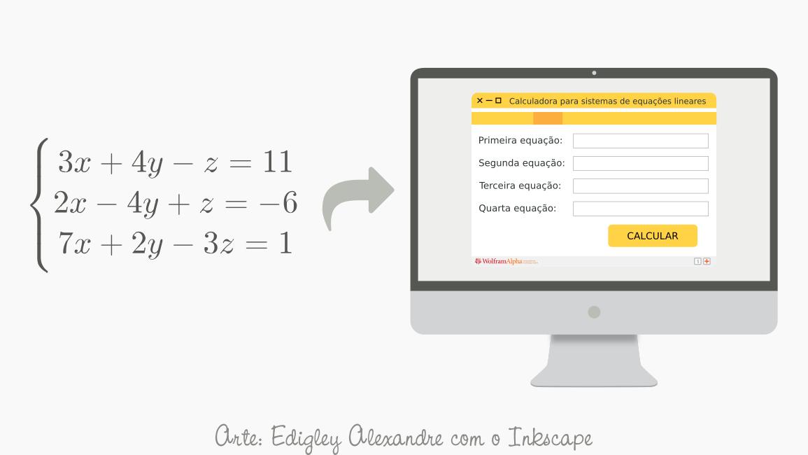 Calculadora para sistemas lineares com até 4 equações