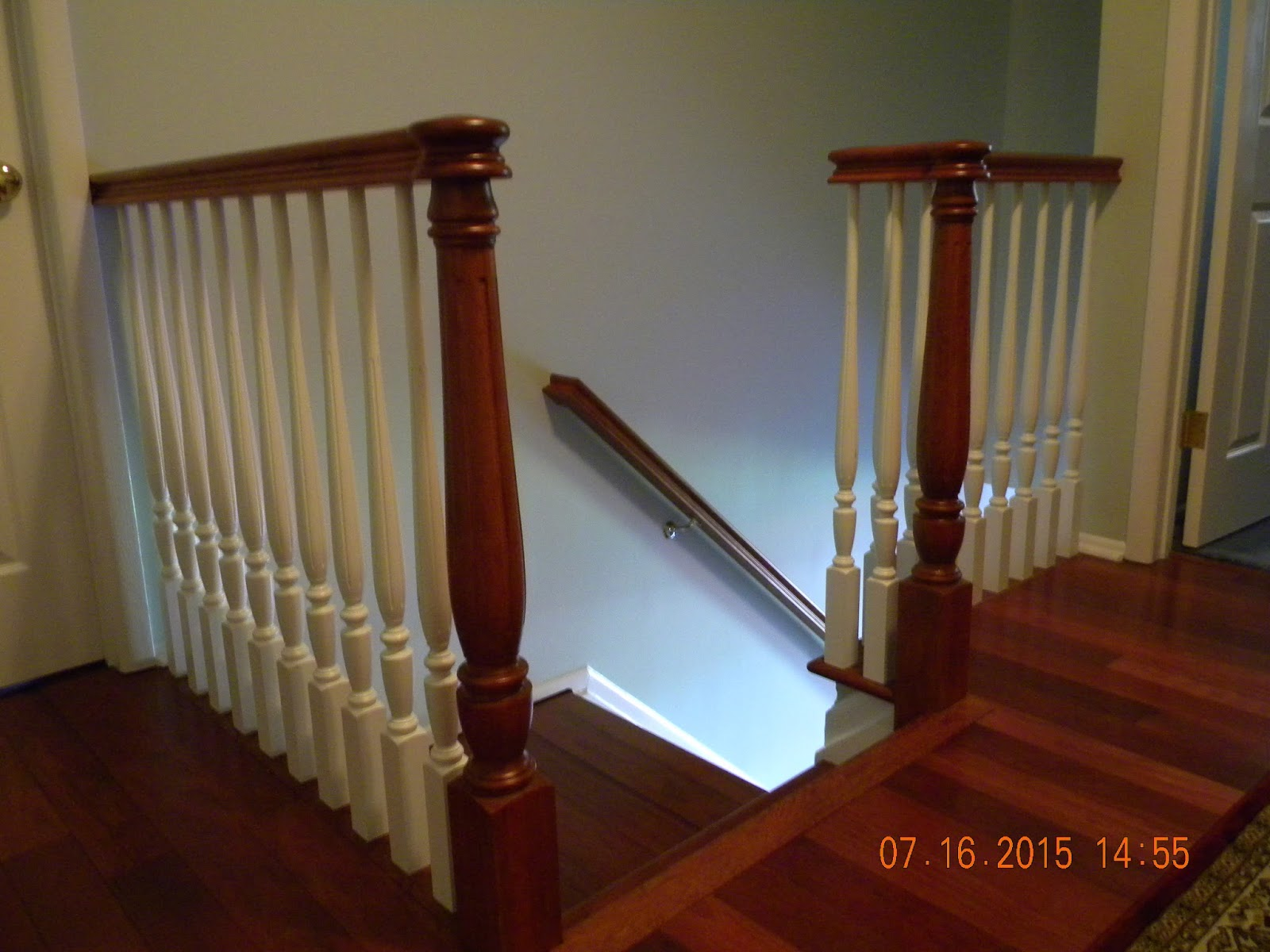 Wood Stairs and Rails and Iron Balusters: August 2015