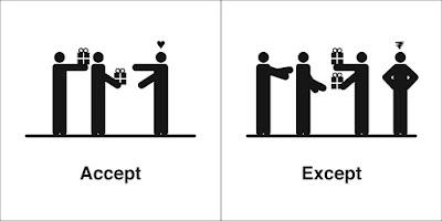 Kesalahan Penggunaan Perkataan ACCEPT dan EXCEPT