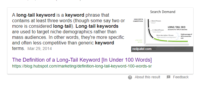 what are long tail keywords