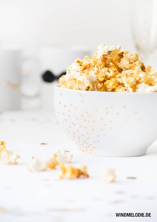 Popcorn selber machen Honig Kokosöl gesund