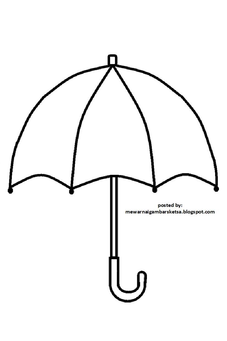 Mewarnai Gambar Sketsa Payung 1