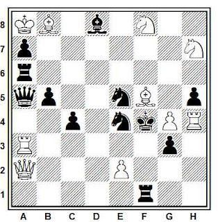 Problema de mate en 2 compuesto por A. Casa (Die Schwalbe 1952)