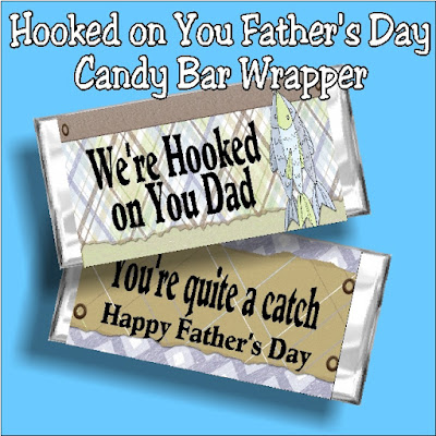 Wish dad a Happy Father's day with this printable candy bar wrapper.  This father's day card is a fun gift for the dad who loves to fish.  Simple save, print, wrap, and give for an easy father's day gift.