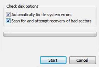 Memperbaiki Memory Card Tidak Terbaca Rusak dengan check error