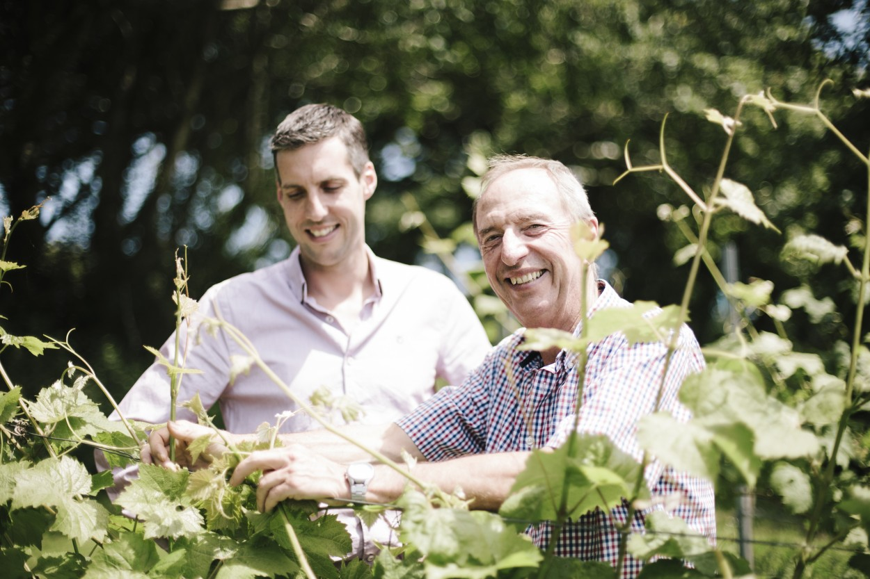 Bob and Sam from Camel Valley Vineyard in Cornwall