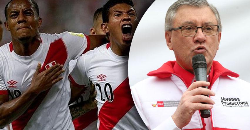 Descartan decretar día no laborable si es que Perú clasifica al Mundial Rusia 2018, informó el Ministro de Trabajo Alfonso Grados - www.trabajo.gob.pe