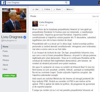 Dragnea - Liviu Dragnea, studiu de caz. Ce-a avut și ce-a pierdut Liviu%2Bdragnea%2Bfacebook