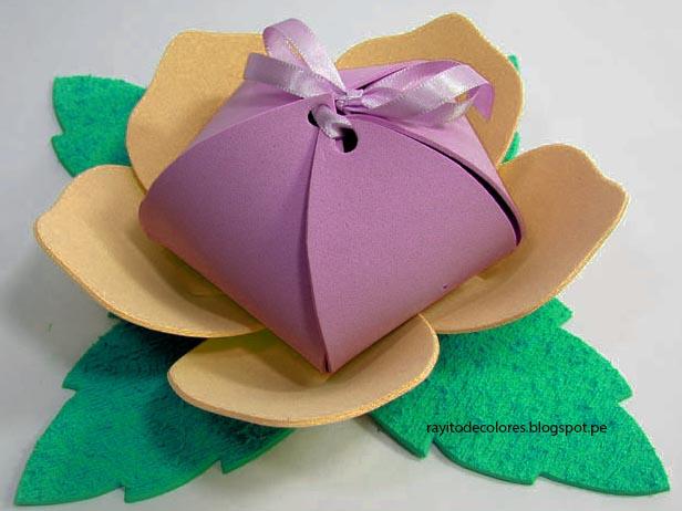 Puntadas de mamâ♥: Flor dulcero para regalar a mamá