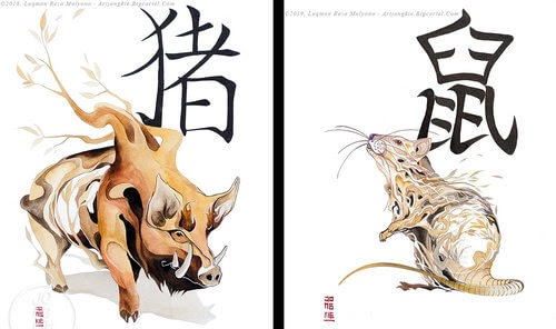 00-jongkie-Year-of-the-Pig-Chinese-New-Year-Zodiac-Drawings