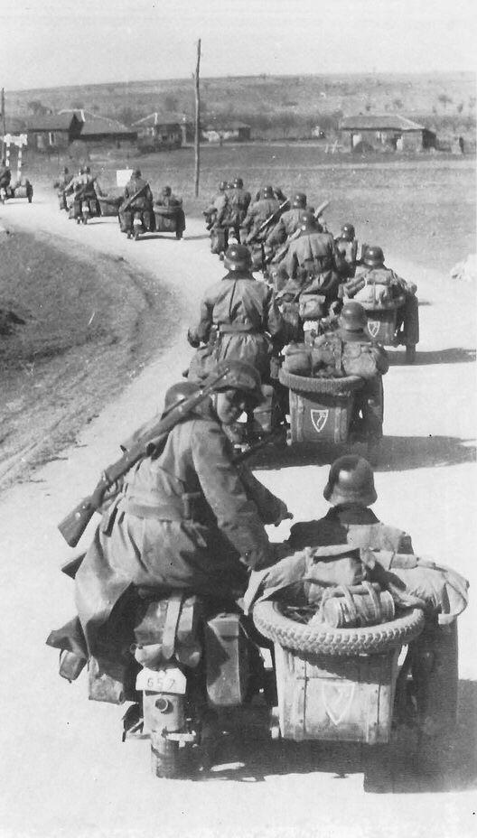 7 April 1941 worldwartwo.filminspector.com LSSAH motorcyclists