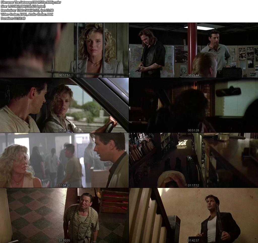 The Getaway 1994 720p BRRip | 480p 300MB | 100MB HEVC Screenshot