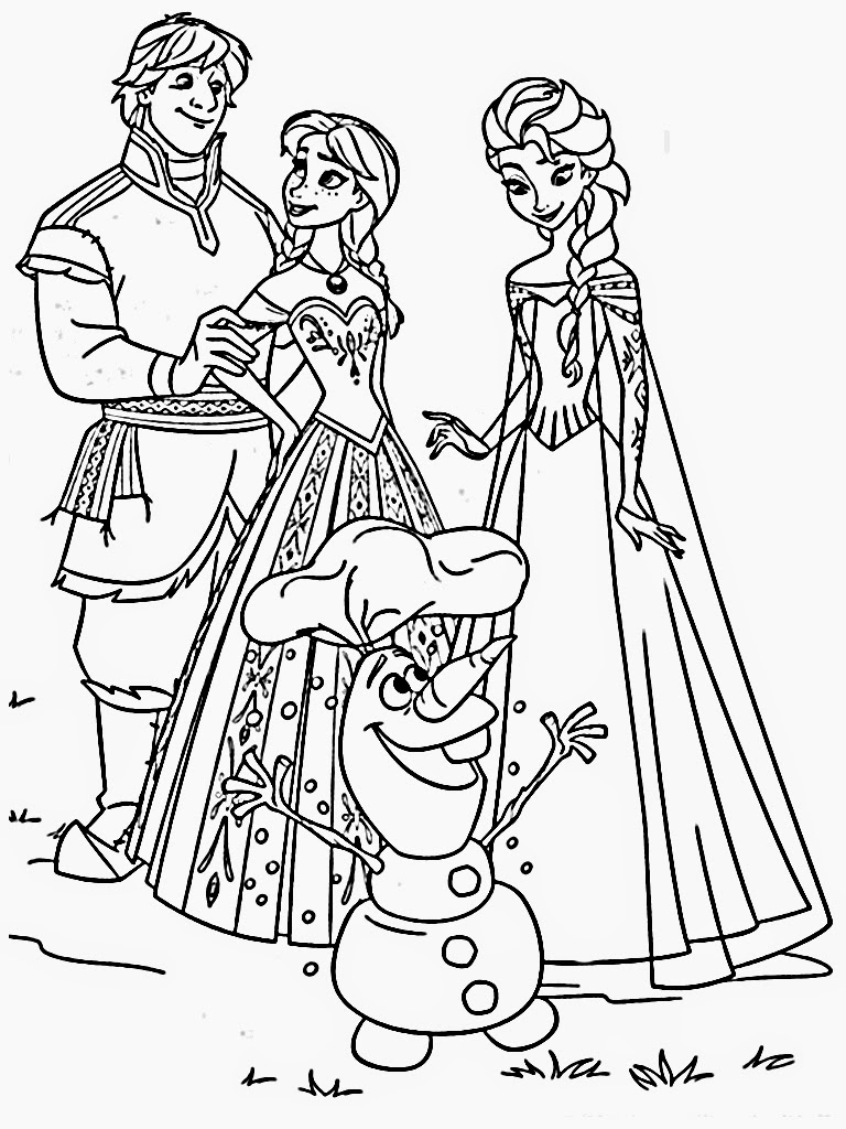 Downloads Frozen Coloring Pages Images