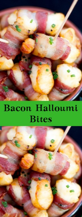 Bacon Halloumi Bites #christmas #dinner
