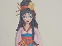 Fondant geisha cake