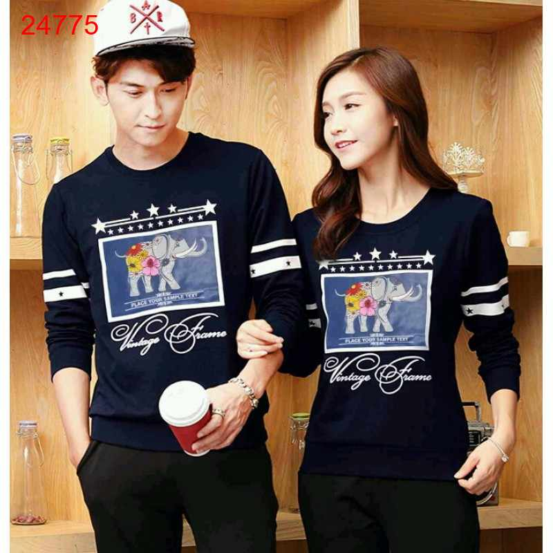 Jual Sweater Couple Sweater Classic Navy - 24775