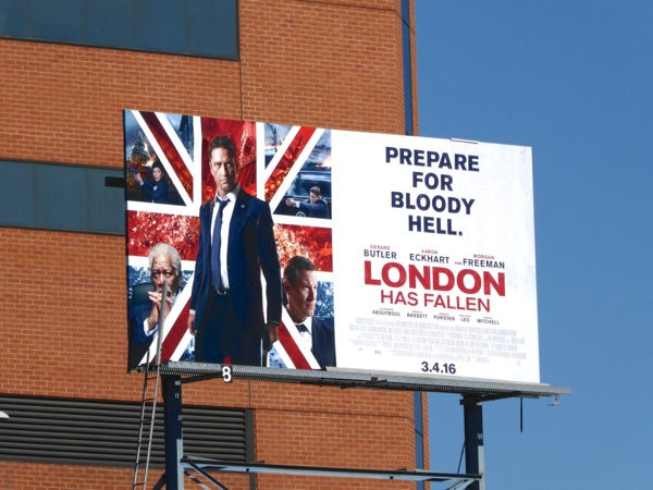 London Has Fallen movie billboard