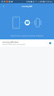Image result for xiaomi Mi band 3 sms notifications