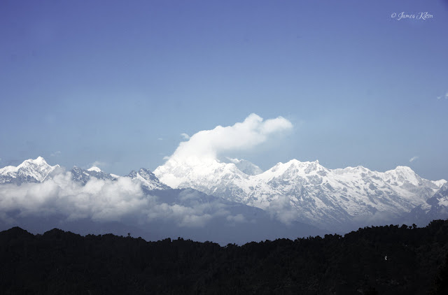 Sightseeing in Sikkim at Ganesh Tok Gangtok Himalayan Range View