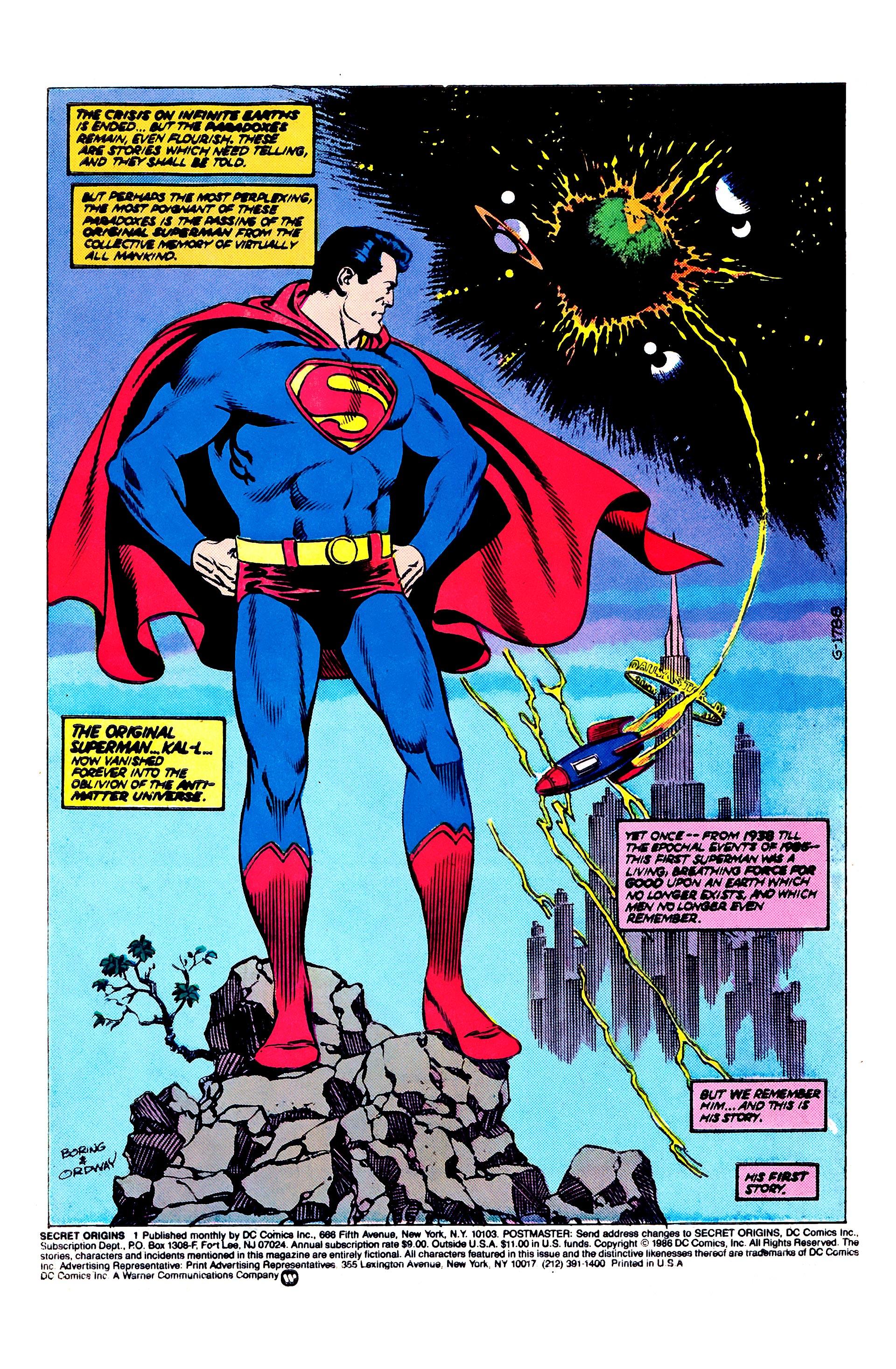 Read online Secret Origins (1986) comic -  Issue #1 - 3
