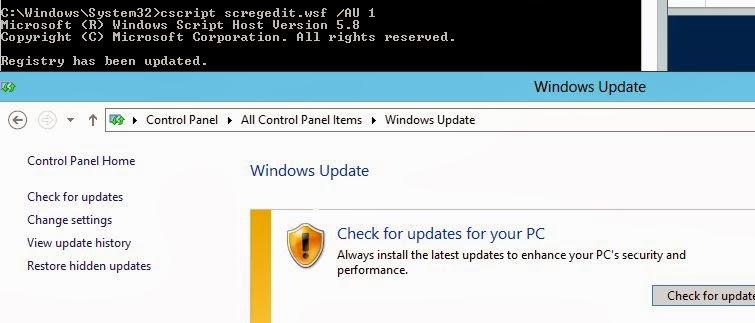 Windows & PowerShell : Managing Windows Updates from Command