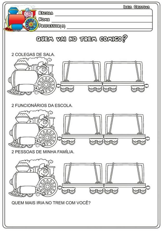 Sequência de atividades: O Trem