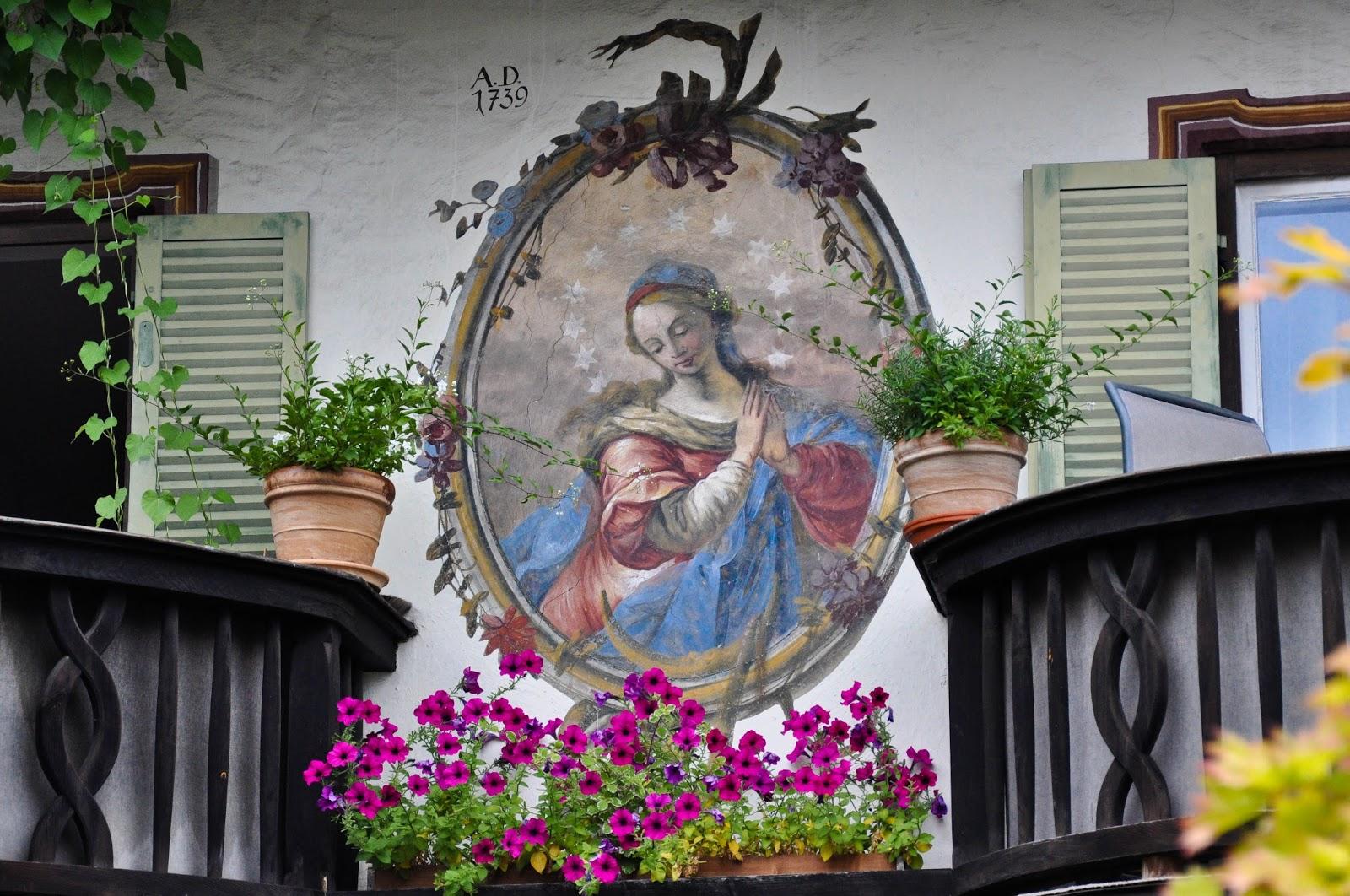 Painted House, Garmisch-Parternkirchen, Bavaria, Germany