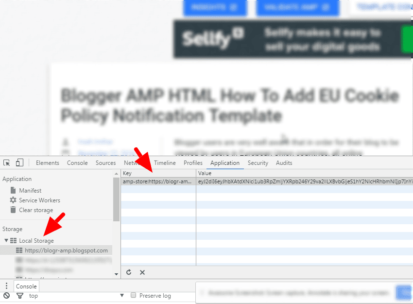 AMP HTML Blogger Template User Notification