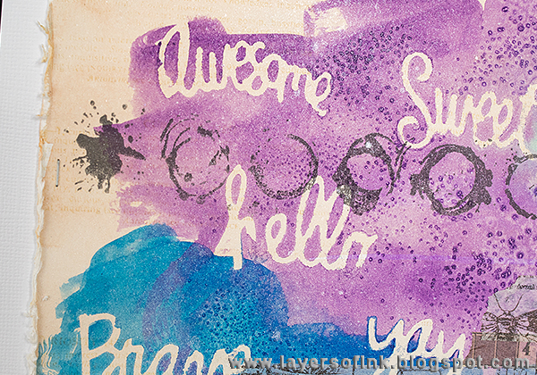Layers of ink - Watercolour Words Tutorial by Anna-Karin with Sizzix dies by Stephanie Ackerman