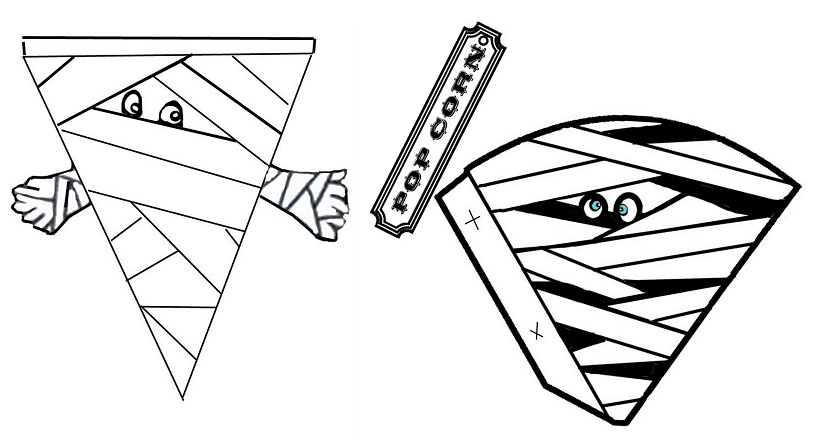 graphic about Mummy Printable identified as Mummy No cost Printable Banners and Cones for Halloween. - Oh