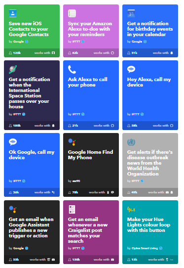 IFTTT usage for social media automation.