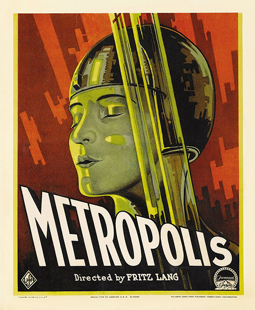 Metropolis - Vintage Movie Poster,classic posters, free download, free posters, free printable, graphic design, movies, printables, retro prints, theater, vintage, vintage posters, vintage printables,