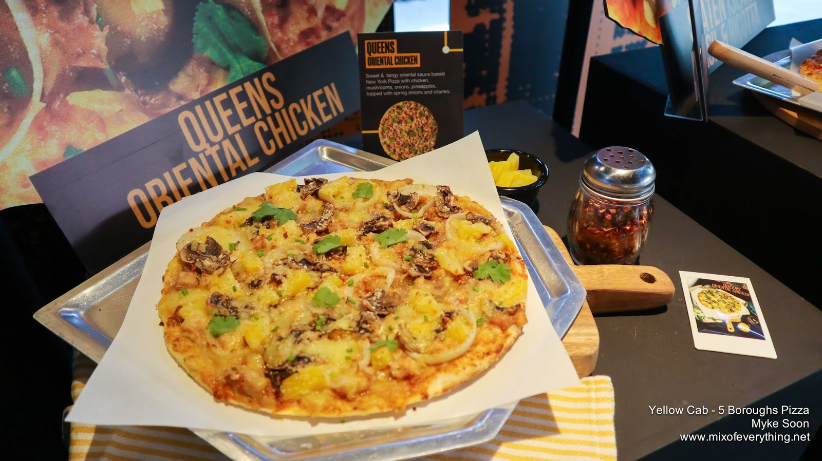 The Queens Oriental Chicken Pizza Brings A Palate Of Unique Flavor Profile With Its Combination Of Chicken Mushrooms Onions And Pineapple