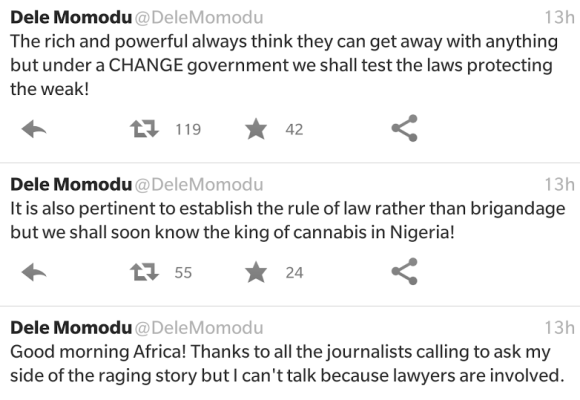 David and Dale Momodu baby mama drama