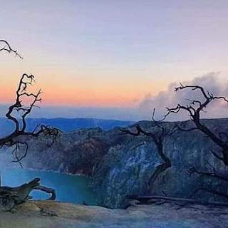 Ijen crater lake is the highest in the world