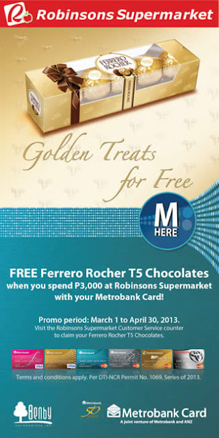 FREE Ferrero by using your Metrobank Card