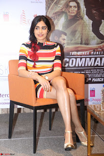 Adha Sharma in a Cute Colorful Jumpsuit Styled By Manasi Aggarwal Promoting movie Commando 2 (150).JPG