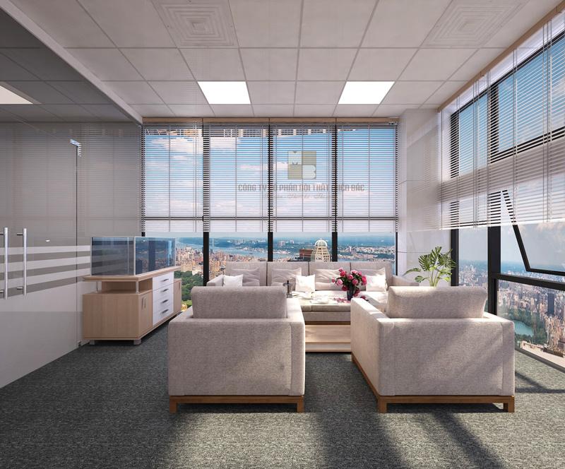 Thiết kế nội thất phòng giám đốc không gian tiếp khách lịch sự