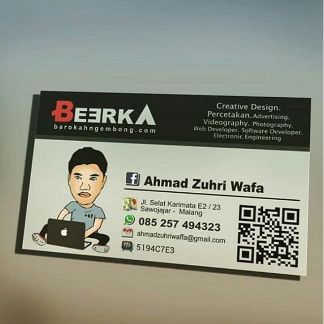 Jasa Desain Kartu Nama ( ID Card )   GRAVIWA