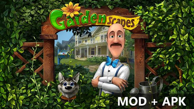Gardenspaces New Acres v2.1.0 MOD + APK Unlimited Money & Gold Terbaru