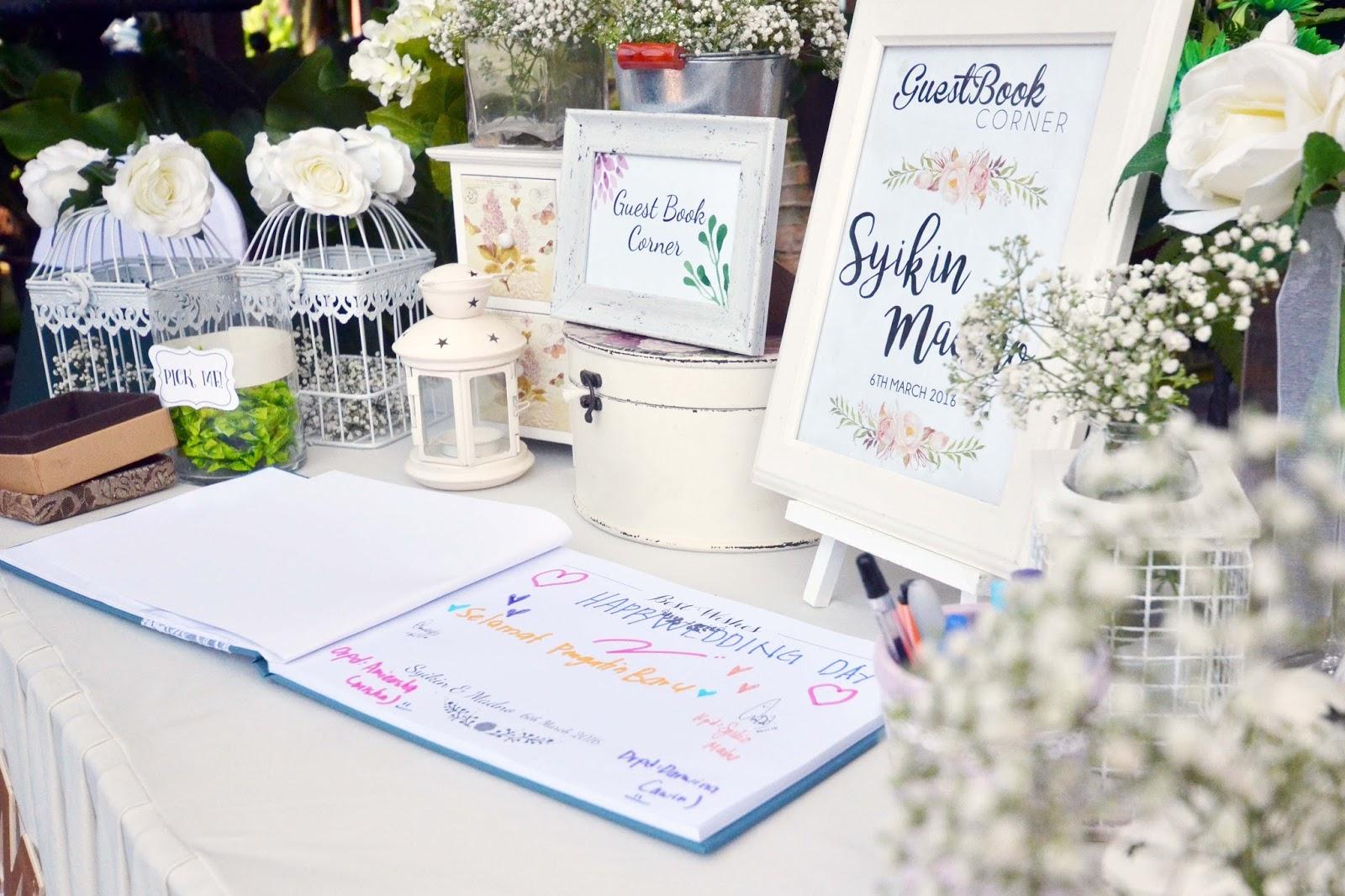 Ideasbyfarah: Wedding Guest Book Table Corner MARCH PROMO !