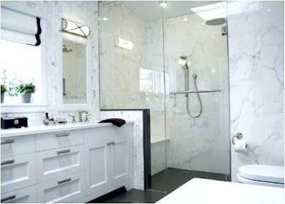 Calcutta Marble Bathroom Ideas